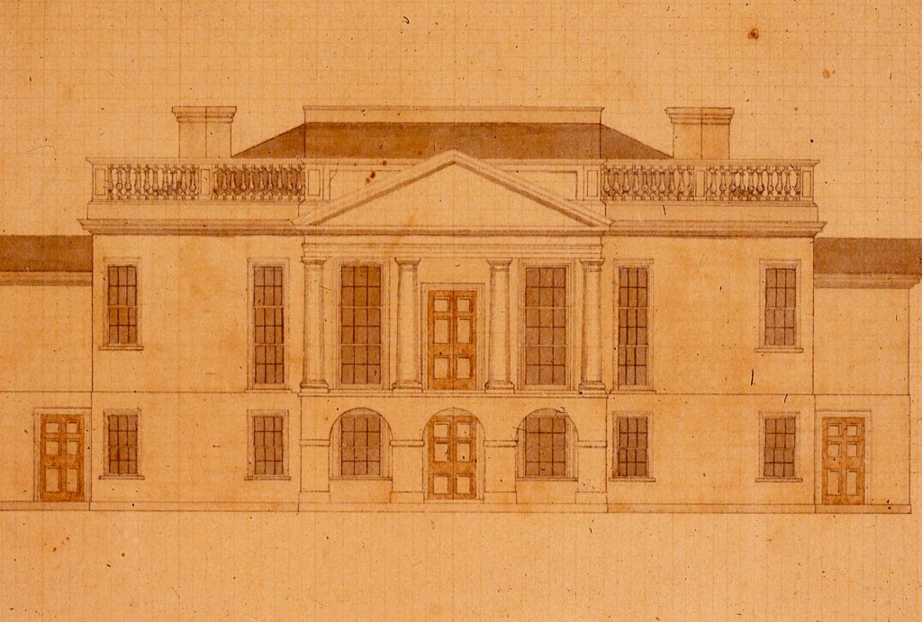 Architectural Drawing of Poplar Forest