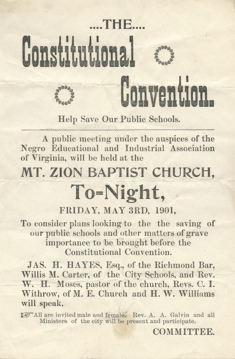 The Constitutional Convention. Help Save Our Public Schools.