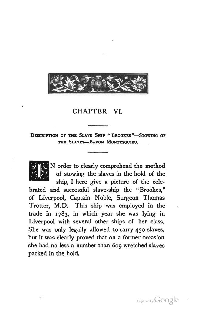 """Description of the Slave Ship 'Brookes'; chapter 6 of Liverpool and Slavery by """"a Genuine 'Dicky Sam'"""" (1884)"""