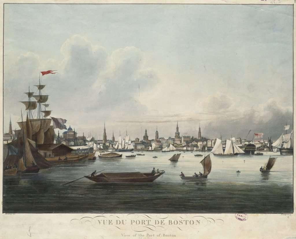 Vue Du Port De Boston
