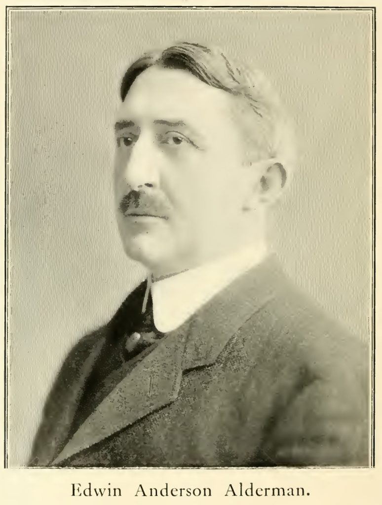 Inaugural Photograph of Edwin Anderson Alderman