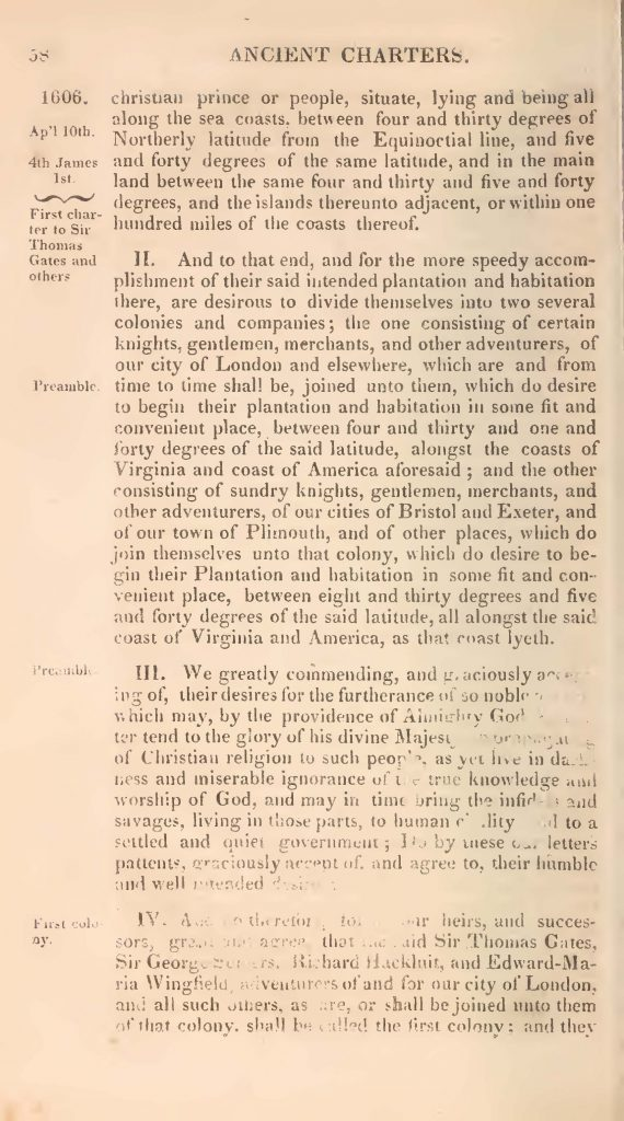 First Charter of Virginia (1606)