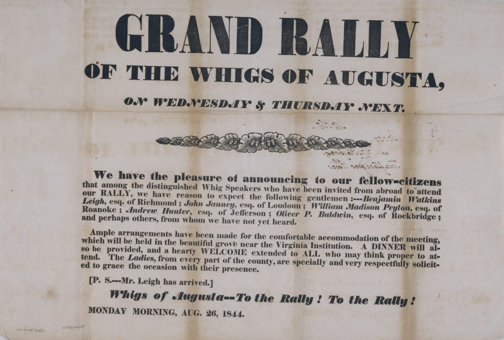 Grand Rally of the Whigs of Augusta