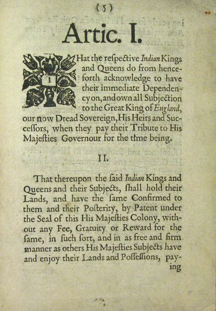 Articles of Peace (1677)