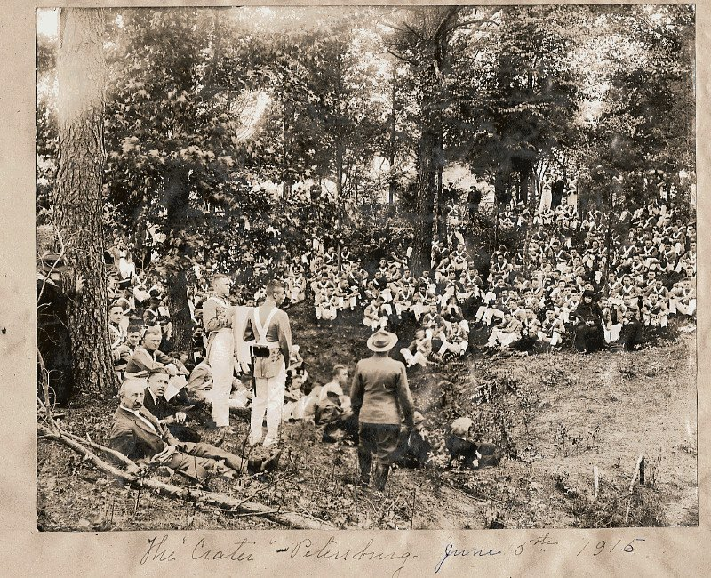 1915 Gathering at the Crater