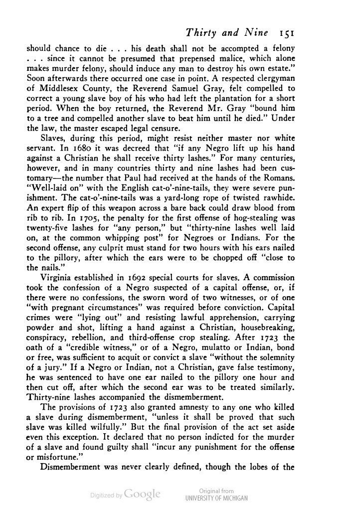"Chapter 15: ""Thirty and Nine""; an excerpt from The Negro in Virginia (1940)"