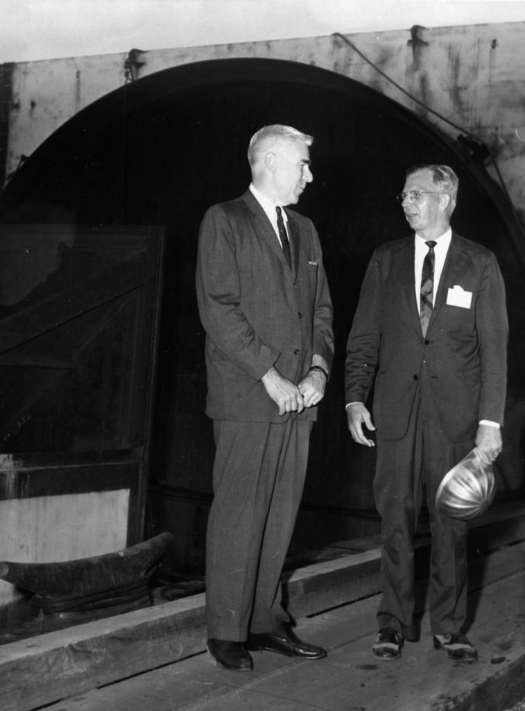 Lucius Kellam and P.Z. Michener During Construction of the Chesapeake Bay Bridge-Tunnel