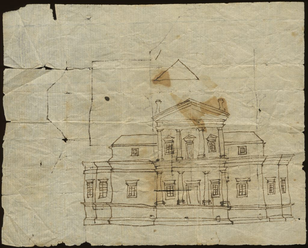 Early Sketch of Monticello