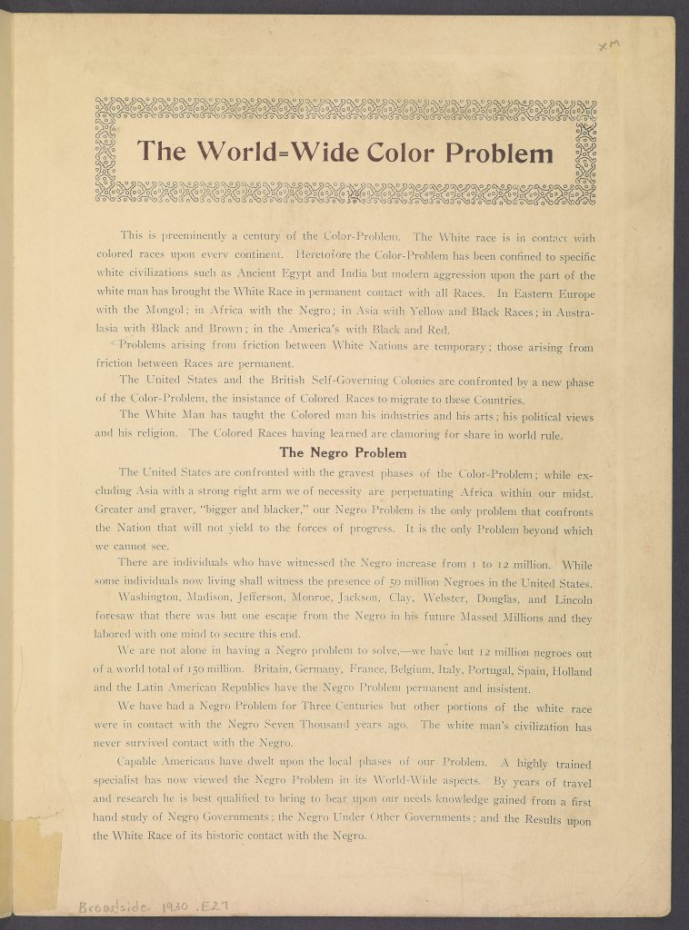 The World-Wide Color Problem