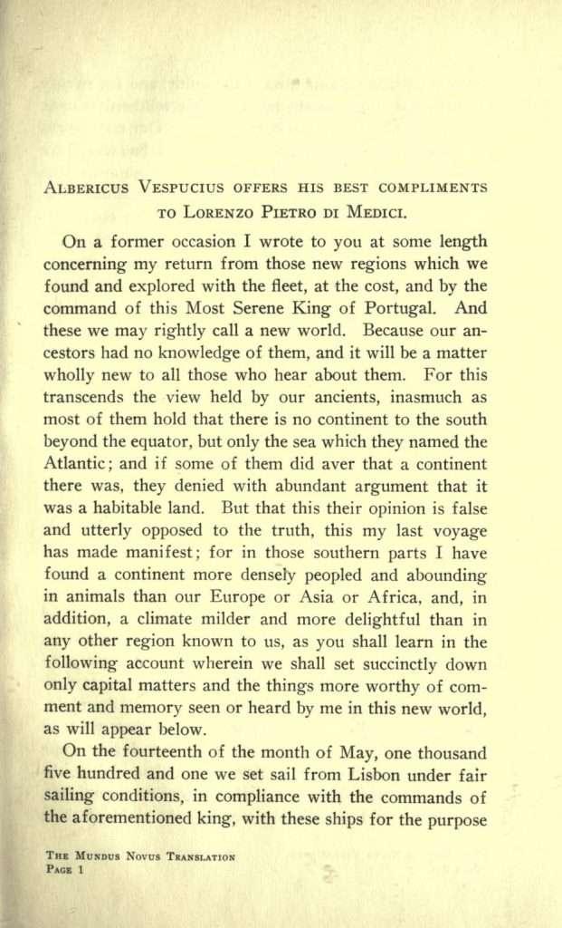 Mundus Novus (1503)