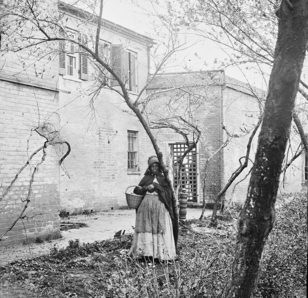 Woman in Front of Slave Pen