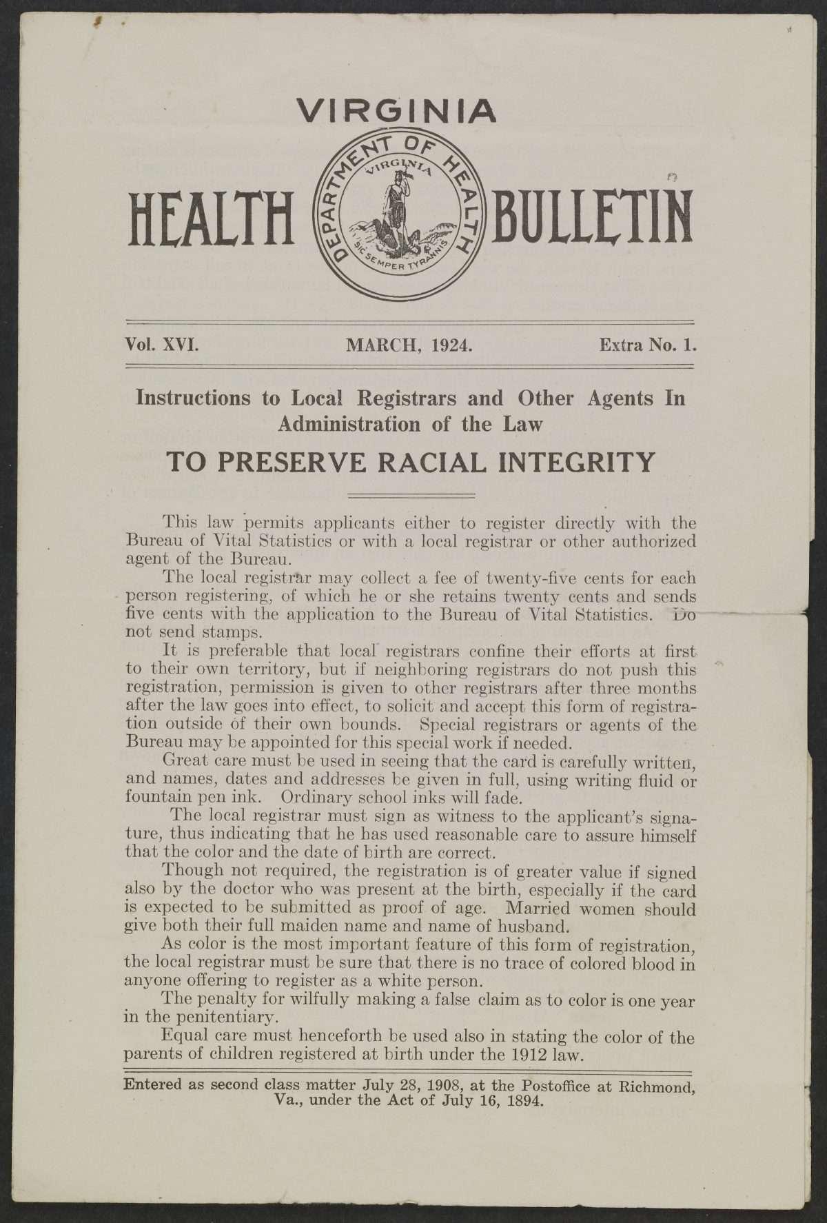 Racial Integrity Laws 1924 1930 Encyclopedia Virginia