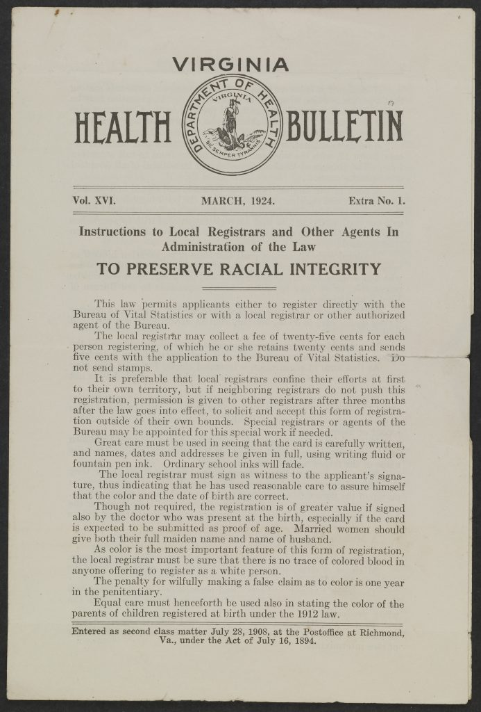 Instructions on Preserving Racial Integrity