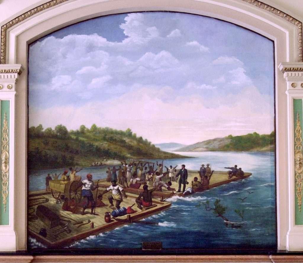 Future Governor Edward Coles Freeing His Slaves While Enroute to Illinois 1819