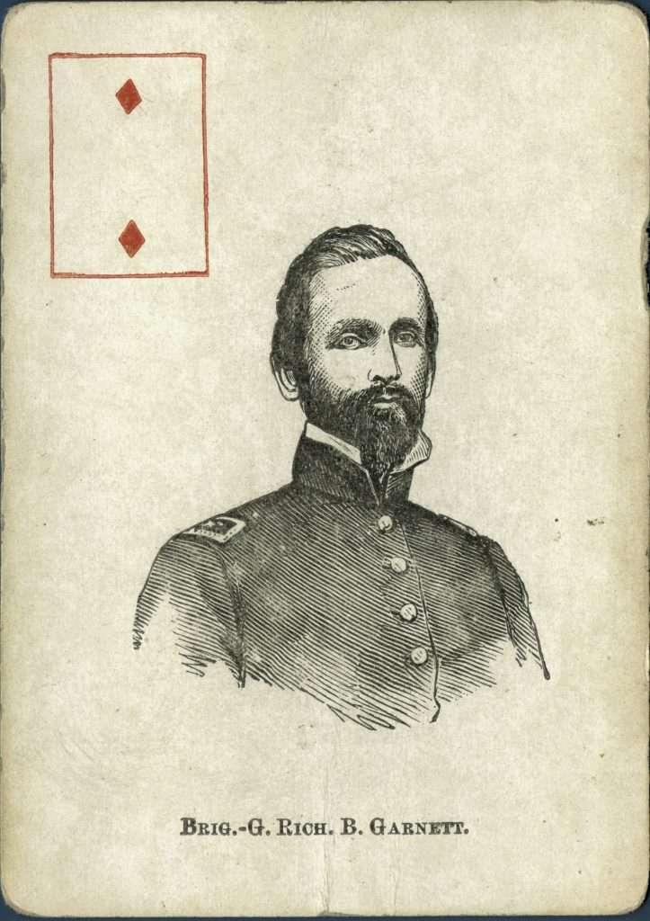 Playing Card of Brigadier General Richard B. Garnett
