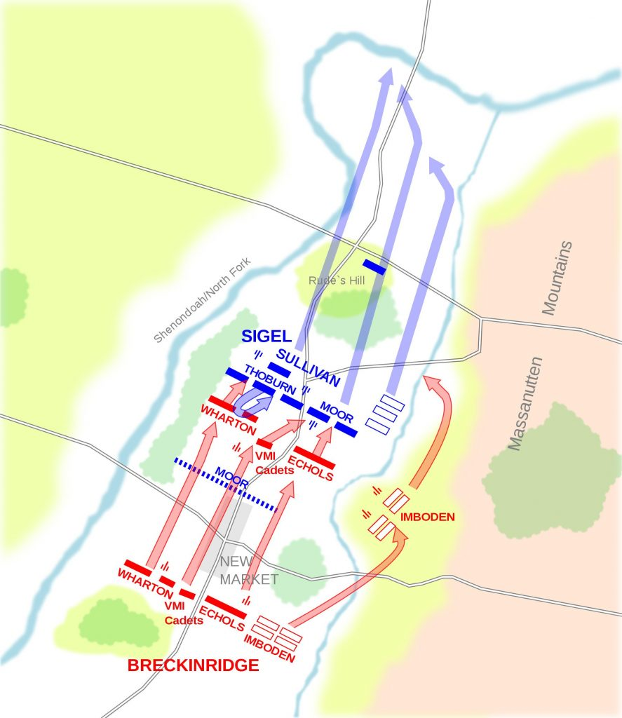 Map of the Battle of New Market