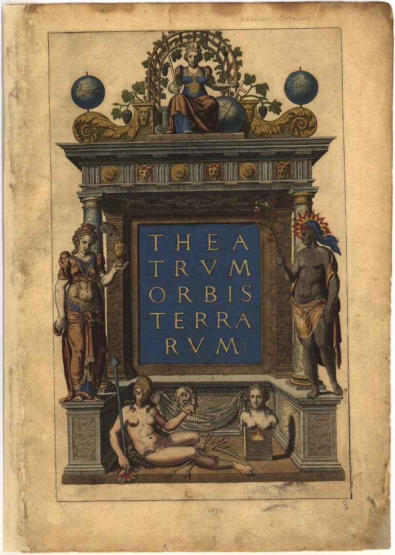 Title Page for the First Modern Atlas