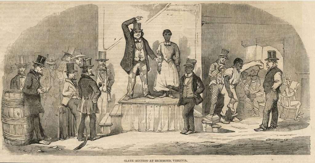 Slave Auction at Richmond