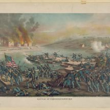 Battle of Fredericksburg — the Army of the Potomac Crossing the Rappahannock