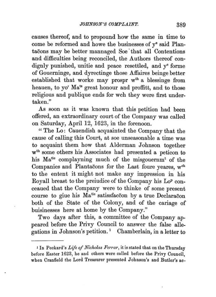 History of the Virginia Company of London (1869)