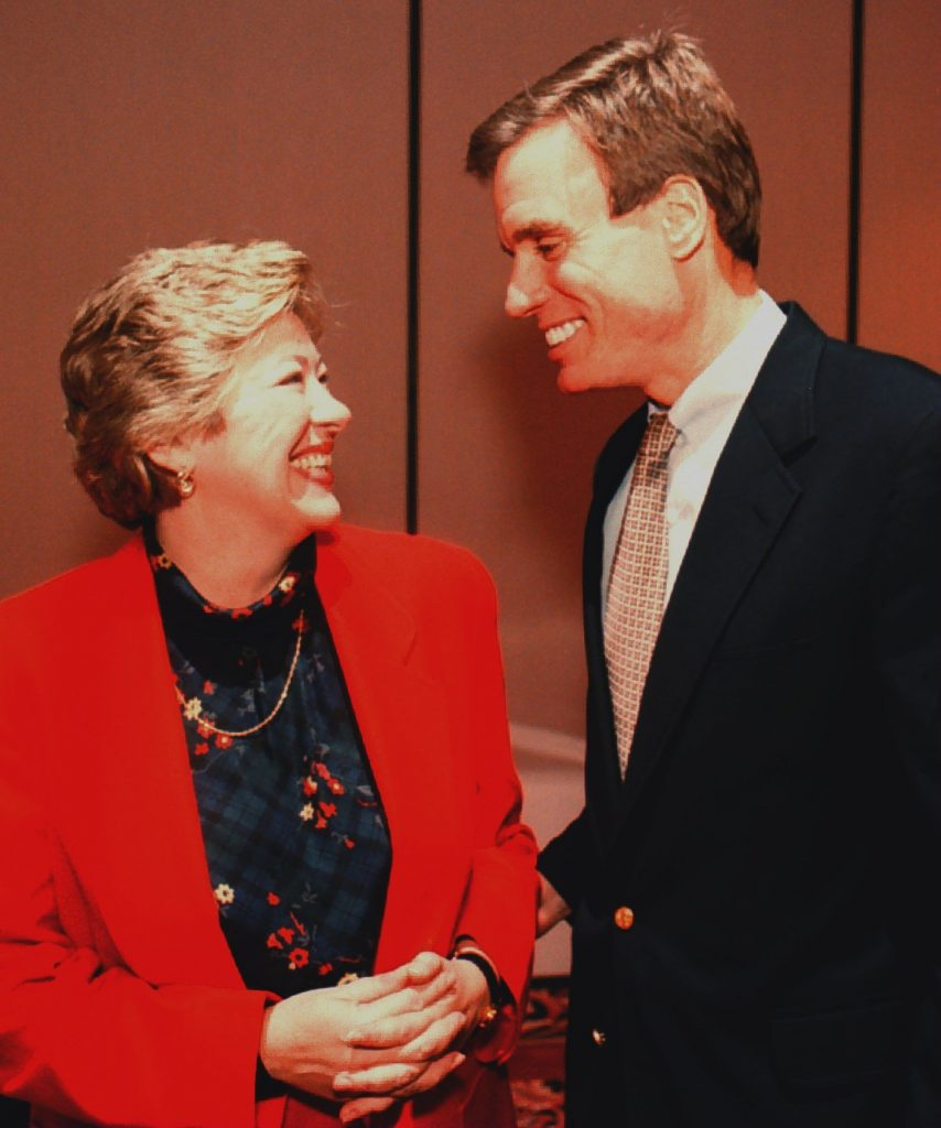 Leslie Byrne and Mark Warner