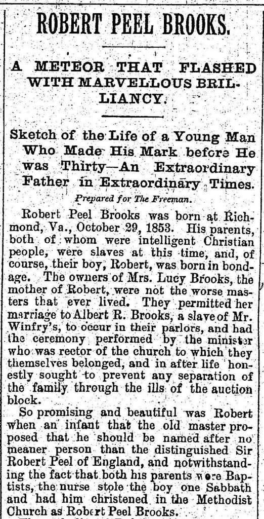 Obituary for Robert Peel Brooks