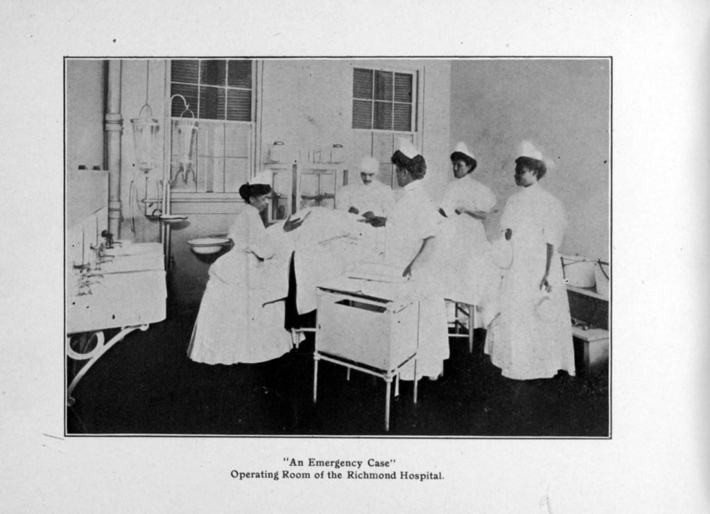 An Emergency Case Operating Room of the Richmond Hospital.