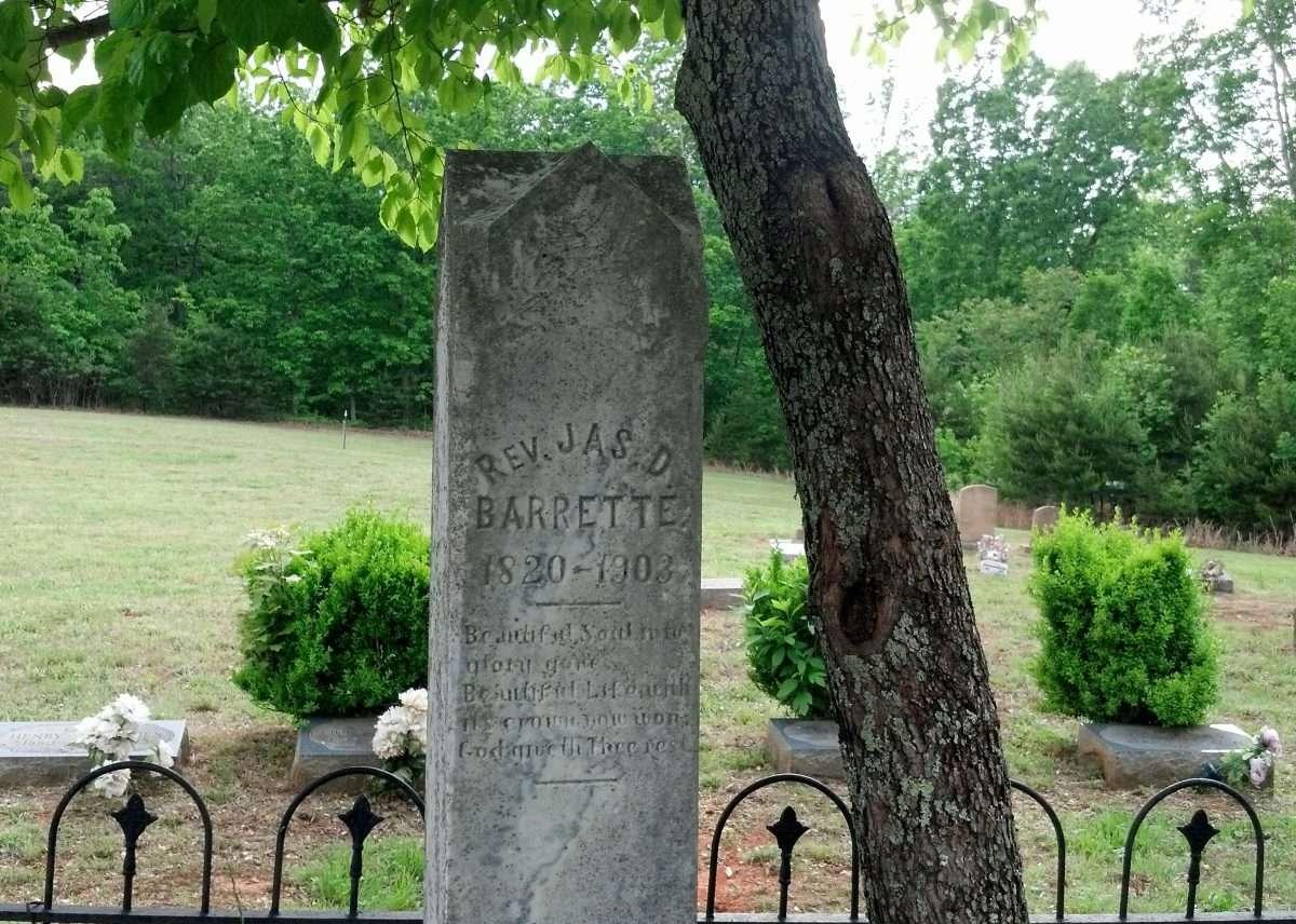 Tombstone of James D. Barrett