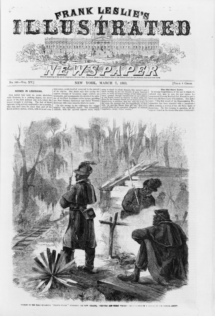 "Pickets of the First Louisiana ""Native Guard"" Guarding the New Orleans"