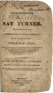 Confessions of Nat Turner, The (1831)