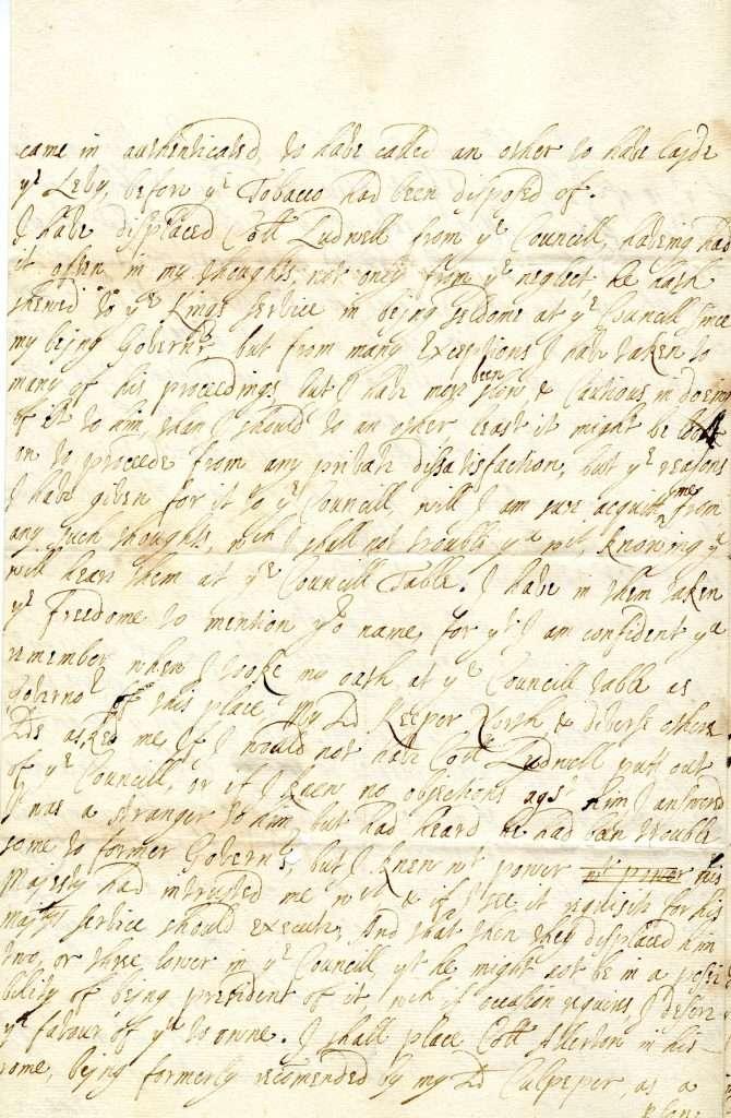 Francis Howard to William Blathwayt (1687)