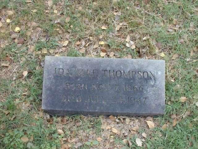 Gravestone of Ida Mae Thompson