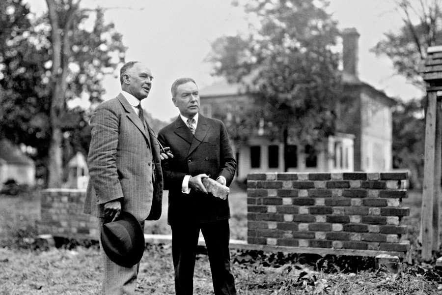W. A. R. Goodwin and John D. Rockefeller