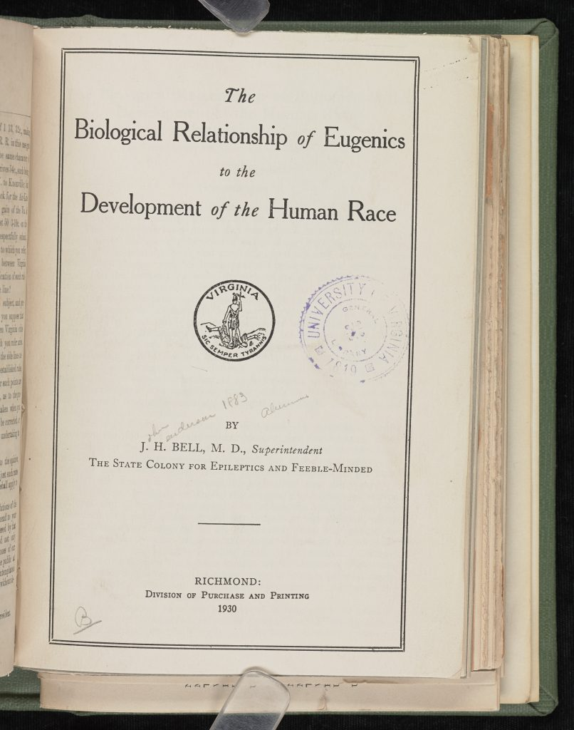 The Biological Relationship of Eugenics to the Development of the Human Race