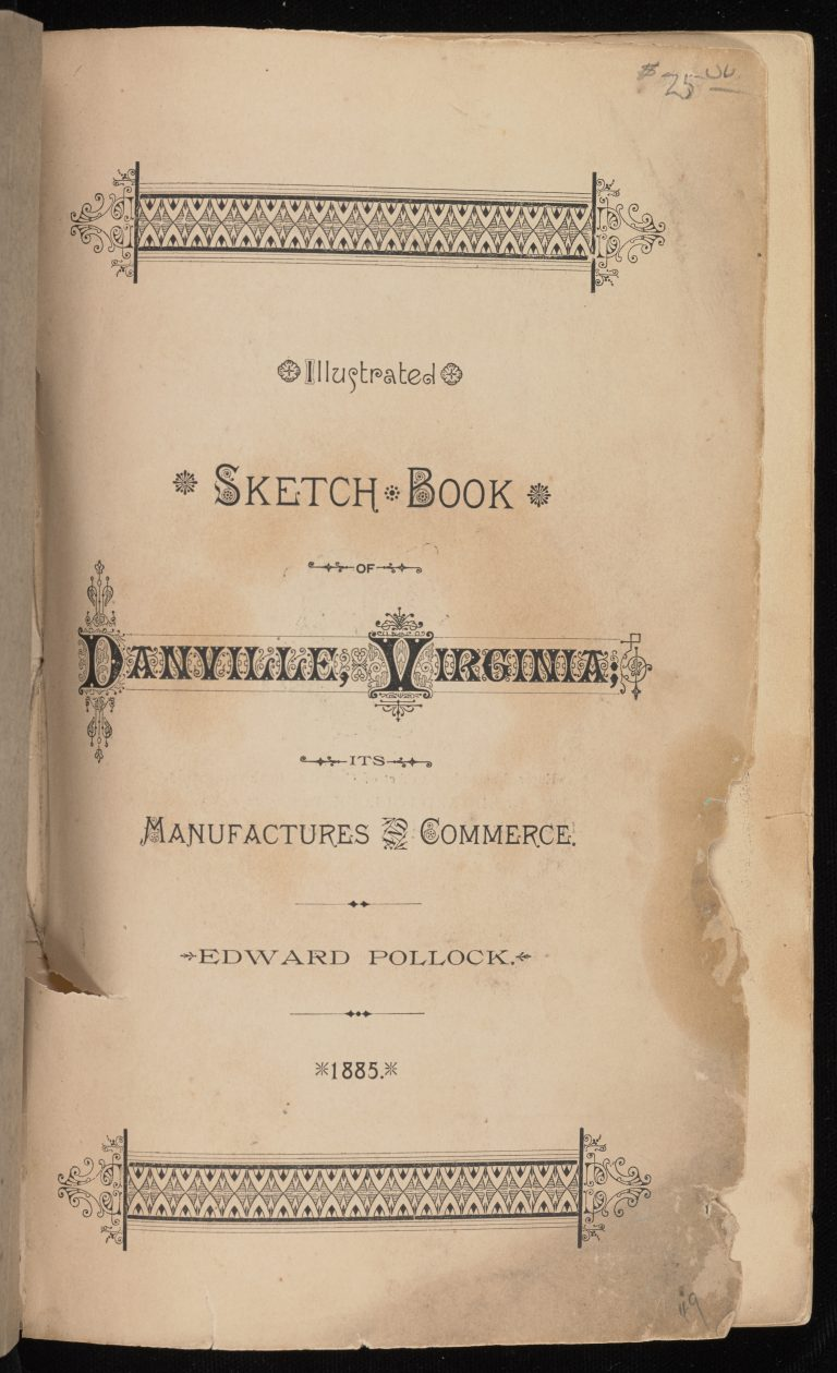 Illustrated Sketch Book of Danville