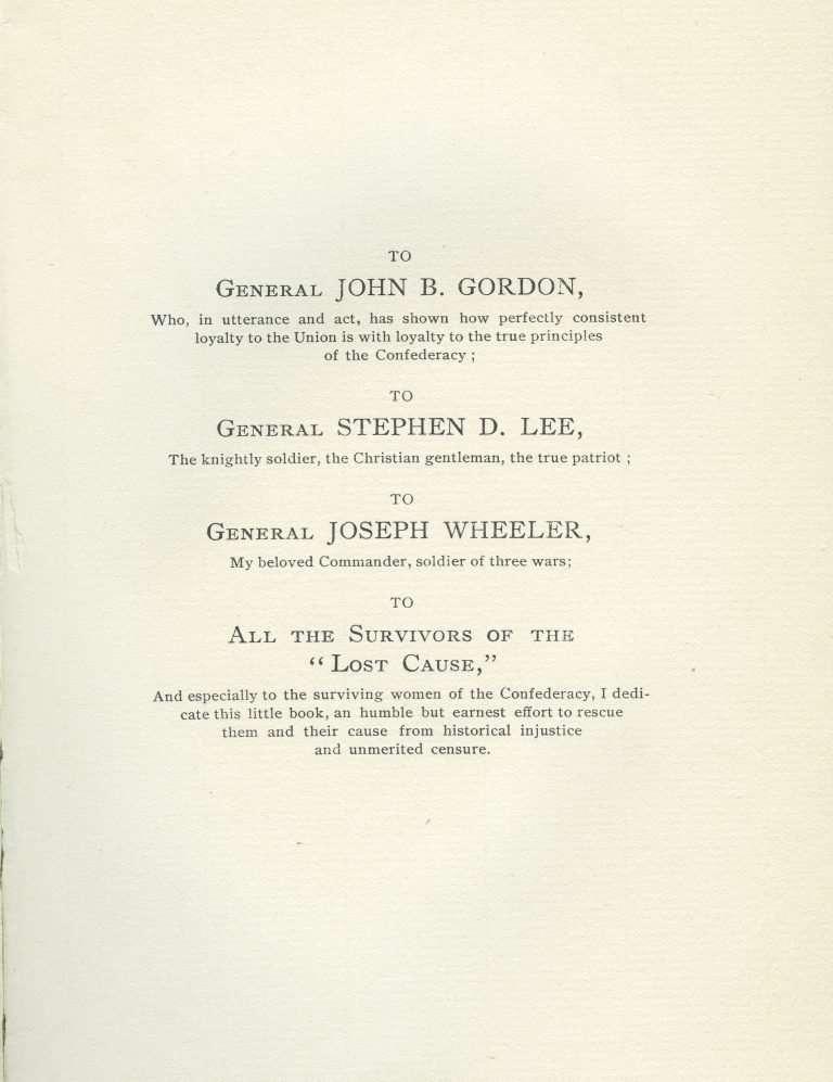 Civil War Book Dedication