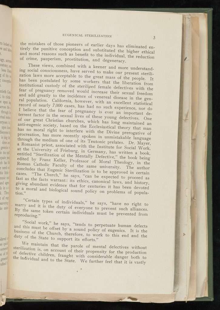 Eugenical Sterilization (1929)