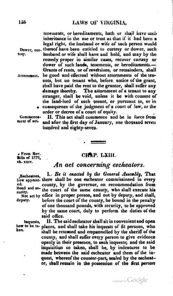 An Act for Regulating Conveyances (1785)
