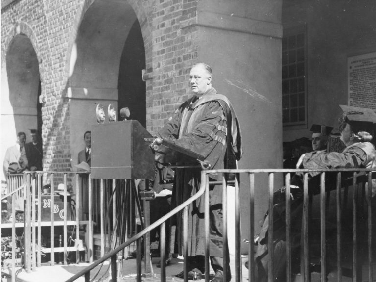President Franklin D. Roosevelt at the College of William and Mary