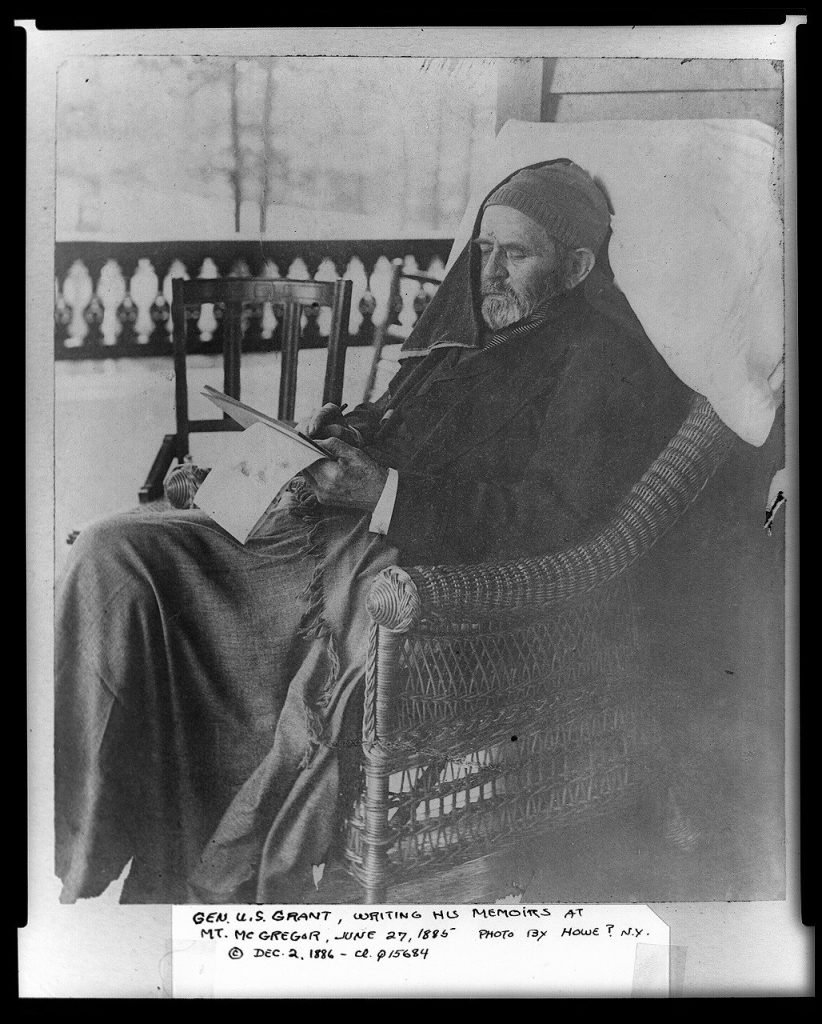 General Ulysses S. Grant Writing His Memoirs