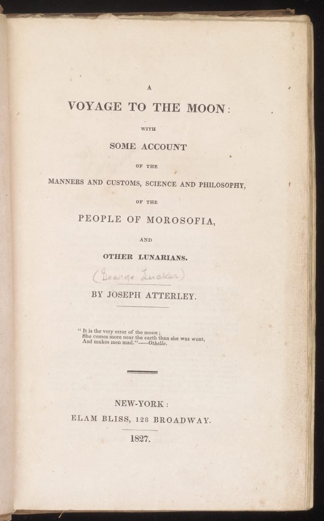 A Voyage to the Moon: With Some Account of the Manners and Customs