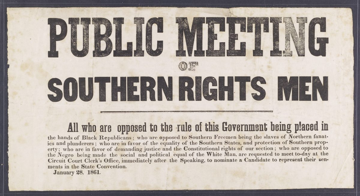 Public Meeting of Southern Rights Men