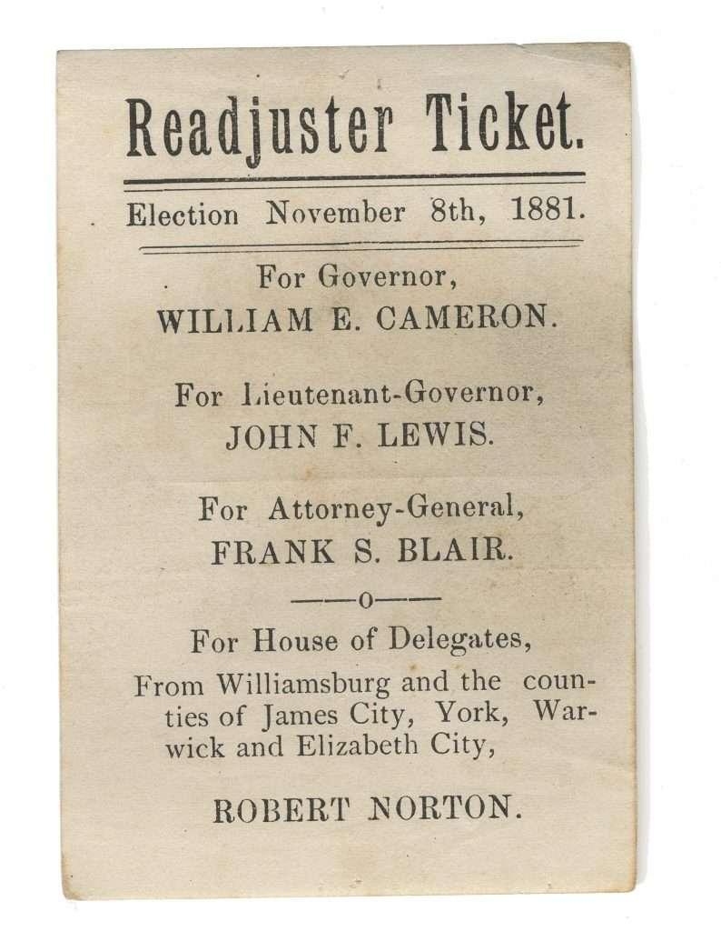 Readjuster Ticket.