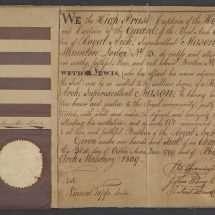 Meriwether Lewis's Masonic Certificate