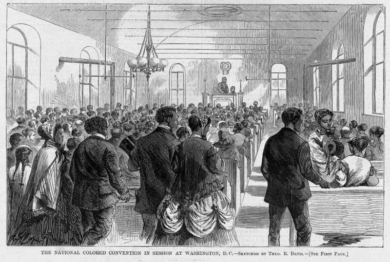 The National Colored Convention in Session at Washington