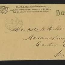 U.S. Christian Commission Envelope