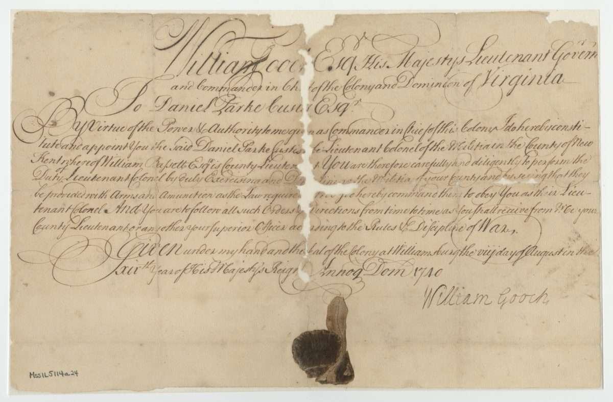 Commission in the Virginia Militia