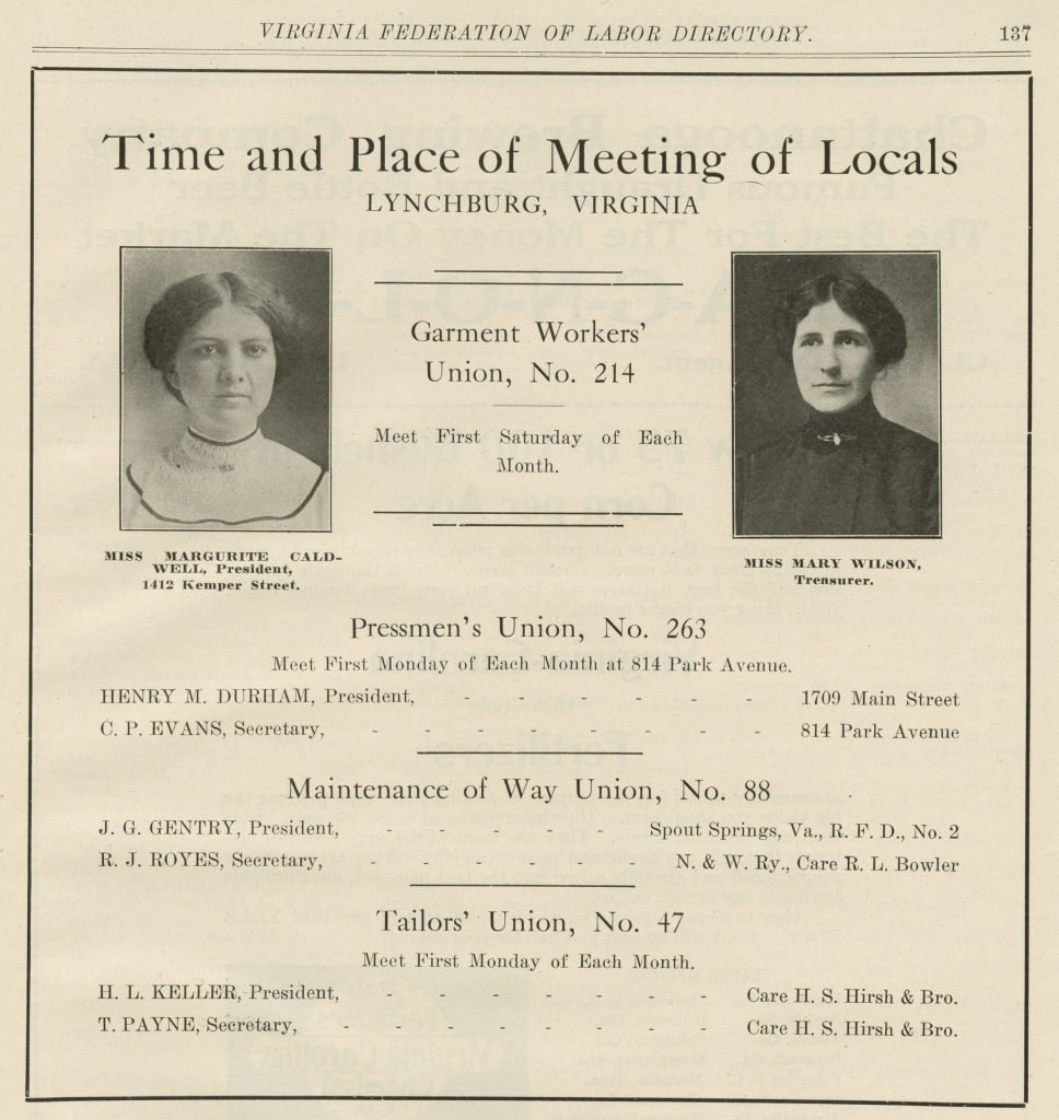 Time and Place of Meeting of Locals; Lynchburg