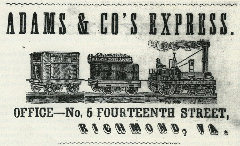 Advertisement for Adams & Co's Express