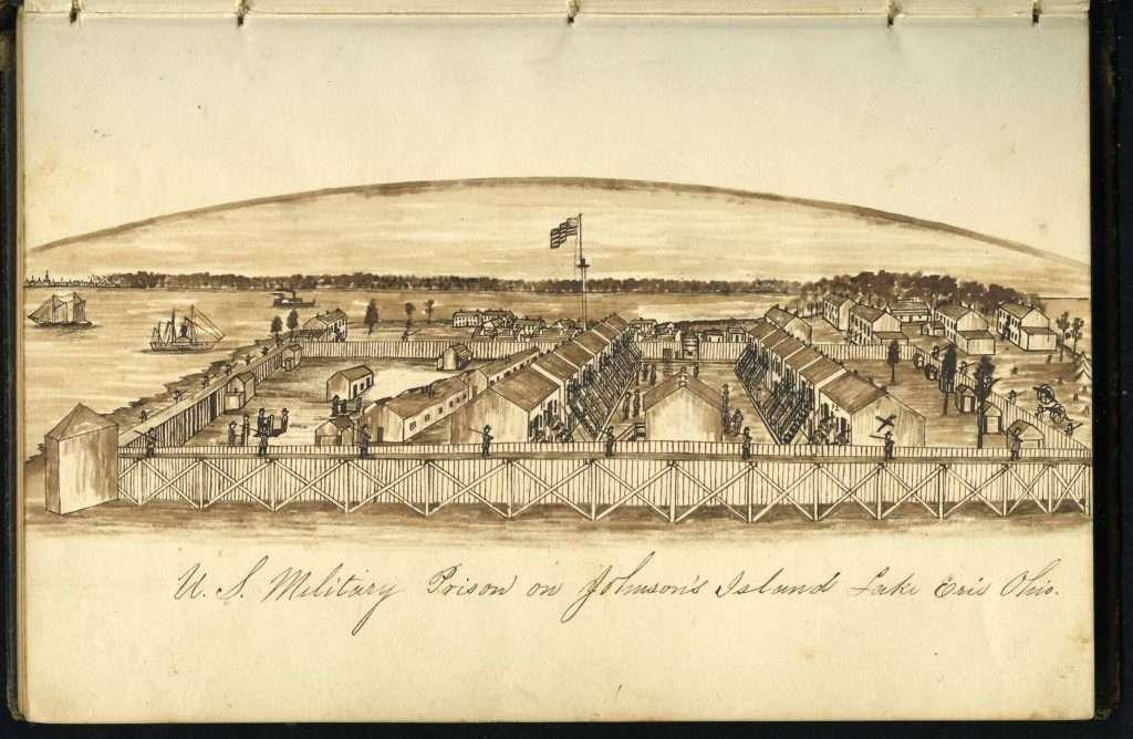 U.S. Military Prison on Johnson's Island Lake Erie Ohio
